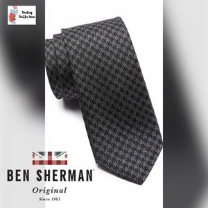 🆕 Men's BEN SHERMAN Maxwell Houndstooth Silk Tie